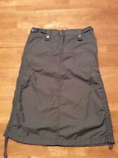 ESPRIT Military Olive Green Straight Cotton Nylon SKIRT Ruch sides size 3 / 4