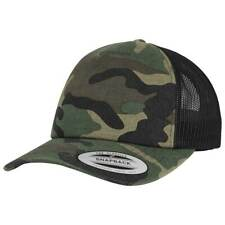 Woodland Camo Trucker Cap Distressed Snapback Mesh Camouflage Military Tactical