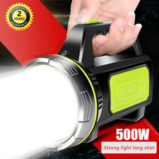 Extrem Helle Wiederaufladbare Taschenlampe LED Batterien Akku Handscheinwerfer