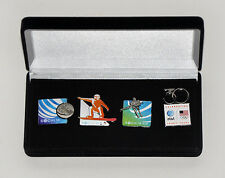 Sochi 2014 Winter Olympic Games 4pc. Pin Set USA and At&t New in Box