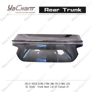 Carbon BootLid Cover For 12-18 GT86 FT86 ZN6 FR-S BRZ ZC6 DL Style Rear Trunk