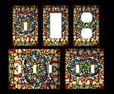 STAINED GLASS IMAGE Light Switch Covers Home Decor Outlet MULTIPLE OPTIONS
