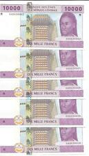Central African St. Central Africa Rep 10000 Francs 2002 Unc. One Note. 3Rw 23D