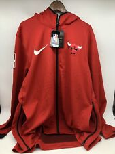 NEW Mens 2XL Chicago Bulls Nike NBA THERMA Flex On-Court Showtime Hoodie