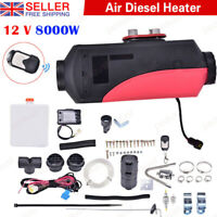 8KW 12V Air Diesel Heater LCD Remote For Home Lorrys Boats Bus Van 8000W UK