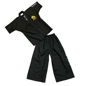 Martial Arts Gi Kid Youth Size 1 (150 CM) Black Pants Shirt Set Taekwondo Karate