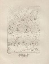 1803 Raffaello incisione in acciaio La fuga in Egitto