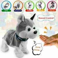 Interactive Robot Dog Electronic Toy Control Walk Sound Bark Stand Gift For Kids