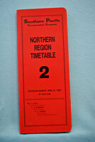 Southern Pacific Employee Timetable - Northern Region #2 - April 27, 1986