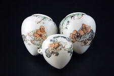 5Large Vintage Porcelain Bird Feeders Bowls Cups for Chinese Bamboo Bird Cage