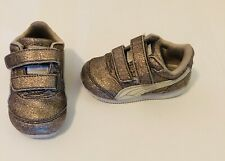 Puma Toddler Gold Glitter Shoes Size 4 C