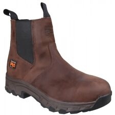 Timberland Pro WORKSTEAD DEALER Mens Water-Resistant Leather Safety Boots Brown