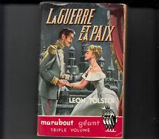 Marabout géant 40 La guerre et la paix Léon Tolstoi  tome 1