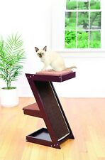 Wooden Cat Scratcher & Cat Perch –  Wood Cat Climber  Sisal Scratching Post