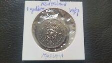 Netherlands 1967 silver 1 Gulden Juliana Koningin der Nerderlanden coin.