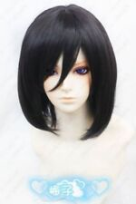 Attack on Titan Mikasa Ackerman Short Black Cosplay Wig Free Wig Cap heat resist
