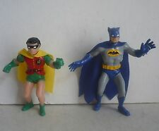 Mexican Batman And Robin Superhero ---- Figures Plastic ---- Toy Made In Mexico