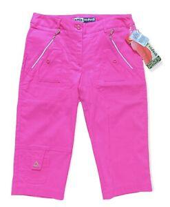 NWT $115 Jamie Sadock Skinnylicious Golf Capri pants Neon Pink sz 0