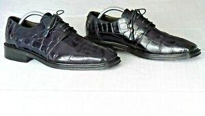 RARE! $1000+ MEZLAN PLATINUM Genuine Alligator Crocodile Boots Loafers Shoe 10.5