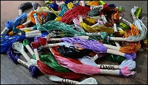 15 Oasis Silk Thread Sewing Skeins Embroidery Cross Stitch Needlepoint Craft