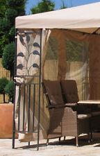 4 Seitenteile zu Blätter Pavillon 3x4m  mit Moskitonetz Sand NEU & OVP