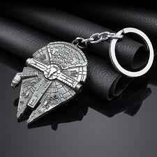 Hot Fashion Star Wars Millennium Falcon Metal Keyring Keychain Silver Color Gift