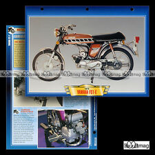 #028.05 Fiche Moto YAMAHA 50 FS1-E FIZZY 1975 Moped Motorcycle Card