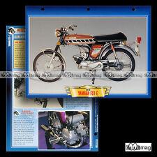 #028.05 Fiche Moto YAMAHA 50 FS1-E FIZZY 1975 Moped Motorcycle Card