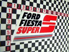 Nice Sticker for a Mk1 Ford Fiesta Supersport
