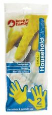 2 X PAIR OF HOUSEHOLD GLOVES SMALL KITCHEN WASHING CLEANING GARDENING GLOVES NEW