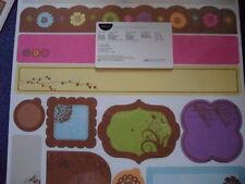 Creative Memories , 12 Papiermotive , Bordüren-Kit , Blütezeit , Rar OVP