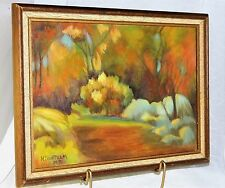 ~ EXPRESSIONIST CANVAS PAINTING, Vintage Artist Signed ~