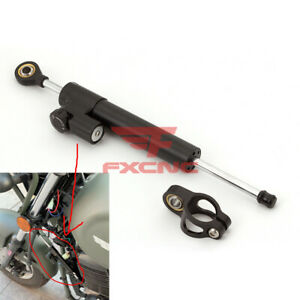 295mm Universal Steering Damper Linear Stabilizer Reversed Safety Control FXCNC