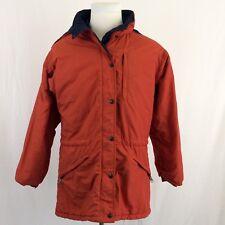 Vintage LL Bean Penobscot Parka Medium Orange 3M Thinsulate Hooded Winter Coat