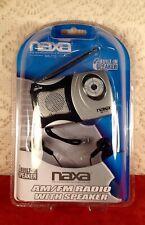 NAXA NR-712 Portable AM / FM Radio with Built-In Speaker & Headphones Weather
