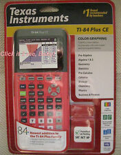 CORAL PINK! LATEST! Ti-84 Plus CE Graphing Calculator Silver Edition Compatible