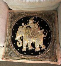 Vintage Indian Monkey God Elephant Fabric Art