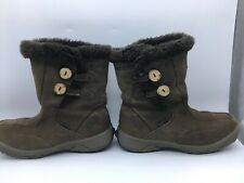 Hi-Tec Winter Women Leather V-Lite Snowflake Chukka Insulated Comfort Boots Sz 8