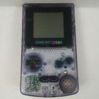 Nintendo Game Boy Color Atomic Purple CGB-001 Handheld System 1998 Tested