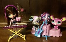Littlest Pet Shop Extremely HTF B52 Blythe Totally Talented Pet Band🐾