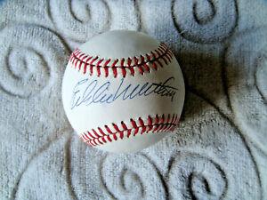 Ed Eddie Mathews signed baseball oficial ONL ball autograph PSA DNA sticker only