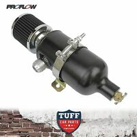 Proflow 750ml Stealth Black Oil Catch Can Tank with Breather & Drain Tap -12 AN