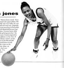 MARION JONES High School Yearbook Olympics WNBA FREE SHIPPING