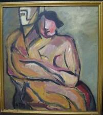 Dealer or Reseller Listed Modernist Portrait Art Paintings