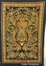 Animal Print Poster Tapestry Hippie Cotton New Lion Face Tiger Head Wall Hanging