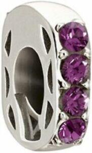 Genuine Chamilia Simple Elegance Purple Charm - Swarovski Crystal - RRP £35.00