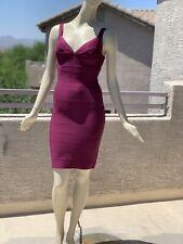 Irregular Herve Leger Bandage Dress in Beet Size S