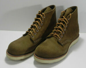 """Red Wing 1sts 6"""" Classic Round 8824 Men's Sz 7.5D Olive Mohave Roughout Leather"""
