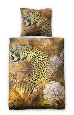 """Digitaldruck Satin Bettwäsche """"Leopard"""" 135x200cm Tigerbettwäsche Leopard"""