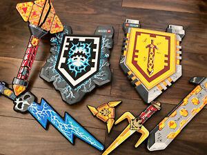 Lego Nexo Knights And Ninjago Foam Swords/shields Bundle